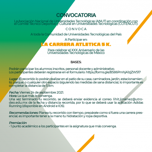 CONVOCATORIA CARRERA